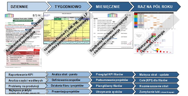 Struktura działań operacyjnych związanych z programem TPM