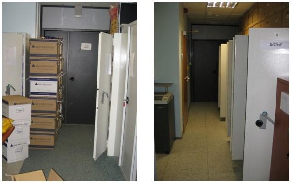 Rys. 2. Fotografie sortownia dokumentacji przed i po optymalizacji